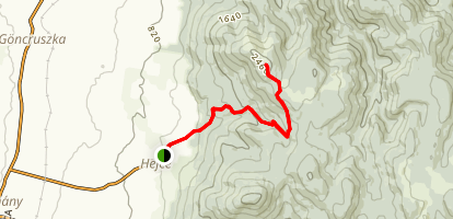 Borso-hegy Trail Map