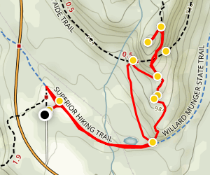 Elys Peak Trail Map
