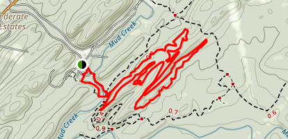 Pig Iron Trail and Cannon Ball Trail Loop Map