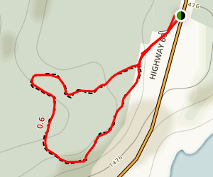 Hardwood Lookout Loop Trail Map