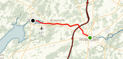 Black River: Watertown to Dexter Map