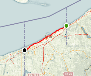 Seaway Trail - Presque Isle Drive: New York to Ohio Border Map