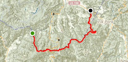 Appalachian Trail: Hughes Gap to US 19E Map