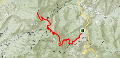 Neels Gap to Slaughter Mountain Map