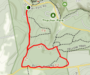Long Path to Blue Loop Trail Map