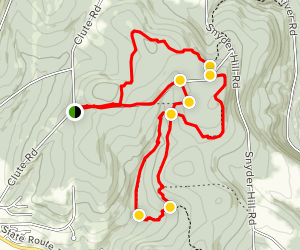 Tuller Hill, Snyder Hill and Woodchuck Hollow Map
