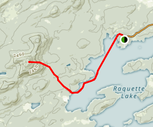 West Mountain via Raquette Lake Map