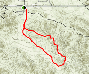 Burnt Hill Trail and Canyon View Trail Loop Map