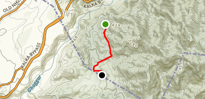 Bharon-ki-Ser to Bhawana MTB Trail Map