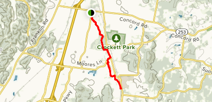 Brenthaven Bikeway Connector Trail Map