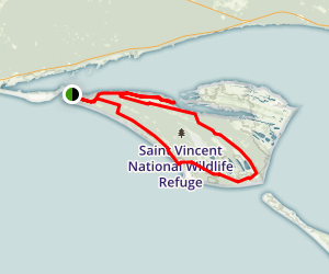 St. Vincent Island Hike Map