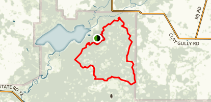 Myakka Hiking Trail Partial Loop Map