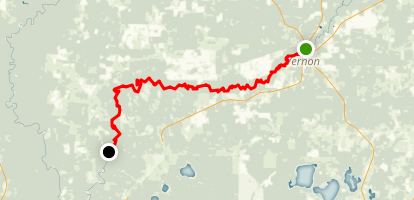 Holmes Creek: Vernon to Millers Ferry Map