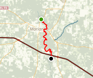 Chipola River:  FL 166 to County 280A Map