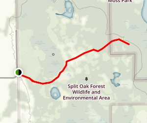 Split Oak Yellow and Center Trail Map