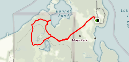 Blue and Lake Trails Map