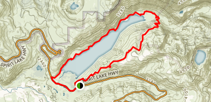 South Coldwater Trail to Lakes Trail Loop Map