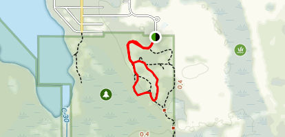 Isle of Pine White Trail and Red Trail Loop Map