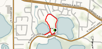 Secret Lake Loop Map