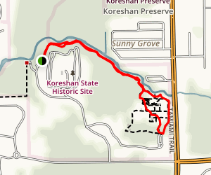 Koreshan Nature Trail Map