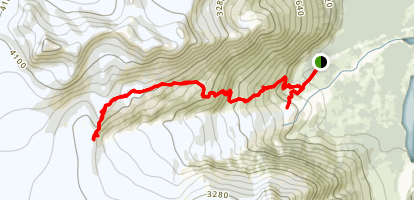 Harding Ice Field Trail Map