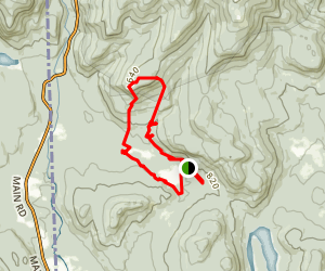 Evans Notch - Blueberry Mountain Loop Trail Map