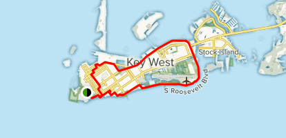 Map Of Florida Key West.Florida Keys Key West Loop Florida Alltrails