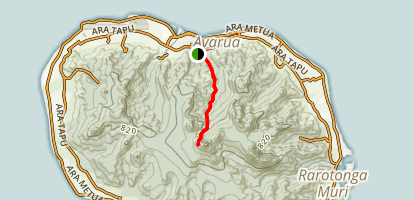 Te Kou Ascent North Side Map