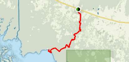 Long Lake and Bird Rookery Canoe Trail Map