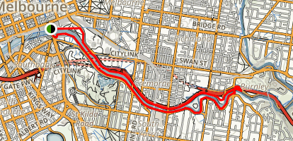 Yarra City Loop Map
