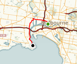 Docklands to Williamstown via Port Melbourne Map