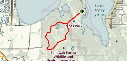 Split Oak Yellow Trail Map