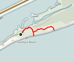 Silver Palm Nature Trail at Sandspur Beach Map