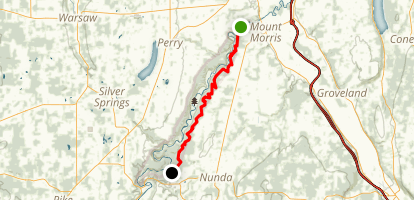 Letchworth Finger Lakes Trail via Mount Morris Dam Map