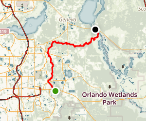 Econlockhatchee River: FL 50 to FL 46 Map