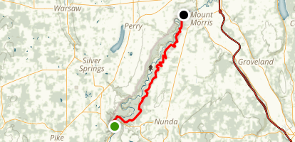 Letchworth Fingerlakes Trail via Portageville Map
