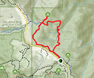 Summit Rock Loop Trail Map