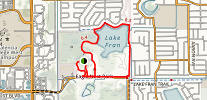 Single Creek Trail and Lake Fran Trail Loop Map
