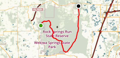 Wekiva River and Rock Springs Run Map