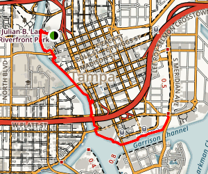 Tampa Riverwalk Map