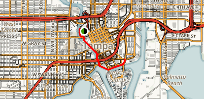Tampa Riverwalk Florida AllTrailscom - Where is tampa on map of us