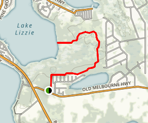 Lake Lizzie Trail [CLOSED] Map