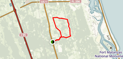 Matanzas State Forest Loop Trail Map