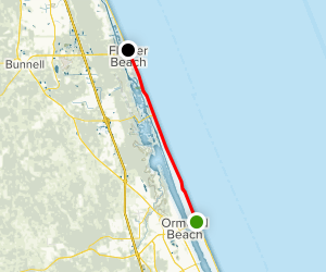 Ormond Beach to Flagler Beach Scenic Drive Map