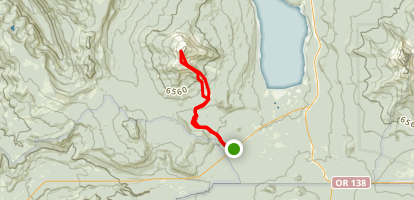 Three Lakes Road and Hemlock Butte Trail to Mount Bailey Map