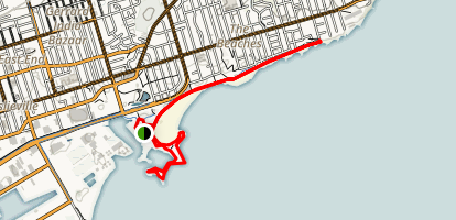 The Boardwalk and Woodbine Beach Map