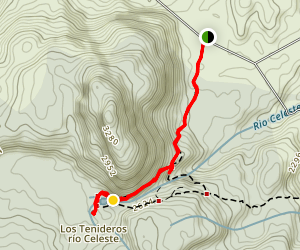 Rio Celeste Trail Map
