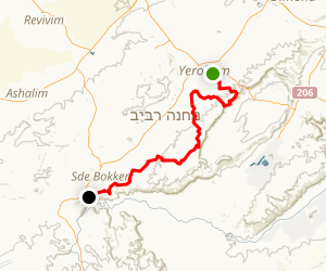 Ben Gurion to Midreshet Ben-Gurion Map