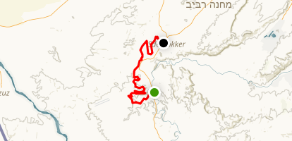 Avdat National Park to Sde Bokker Map
