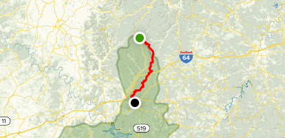 Sheltowee Trace Northern Terminus to Morehead Conference Center Map